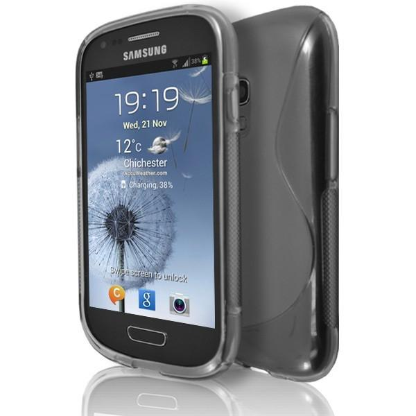 Samsung Galaxy S3 Mini (I8190) - Smoked S Line Gel Silicone Rubber Case Cover