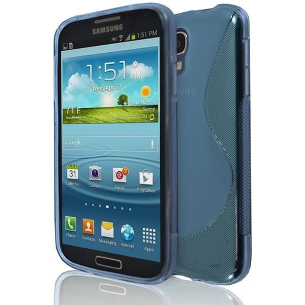 Samsung Galaxy S4 (I9500)- Blue S Line Gel Silicone Rubber Case Cover