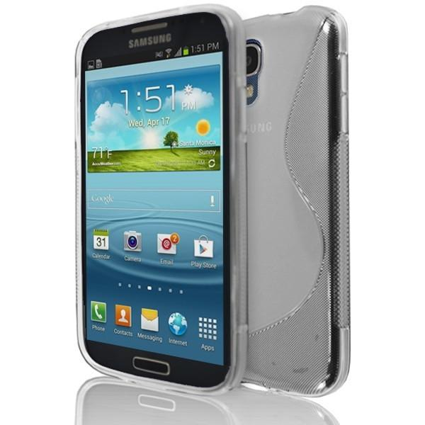 Samsung Galaxy S4 (I9500)- Clear S Line Gel Silicone Rubber Case Cover