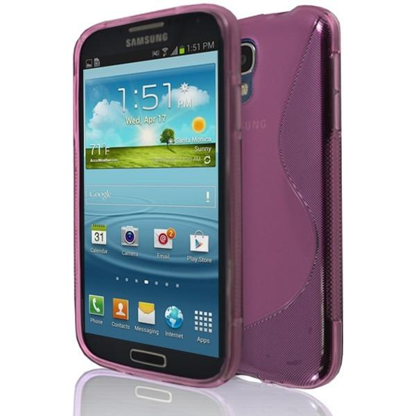 Samsung Galaxy S4 (I9500)- Pink S Line Gel Silicone Rubber Case Cover