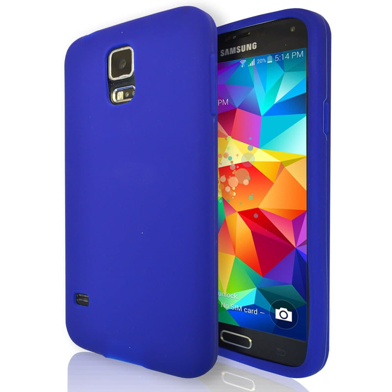 Samsung Galaxy S5  - Gel Soft Silicone Protective Case Cover - Blue
