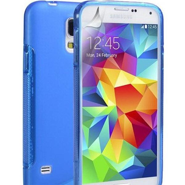 Blue S Line Case Cover For Samsung Galaxy S5 (I9600)