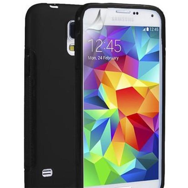 Black S Line Case Cover For Samsung Galaxy S5 (I9600)