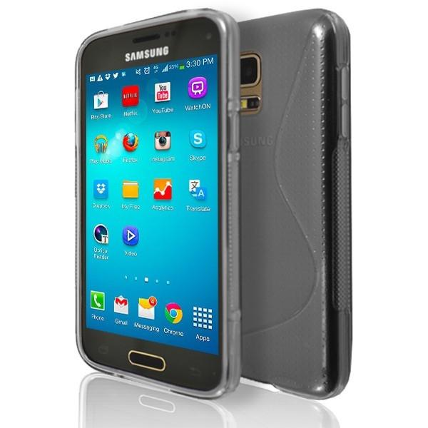 Samsung Galaxy S5 Mini (G800) - Smoked S Line Gel Silicone Rubber Case Cover