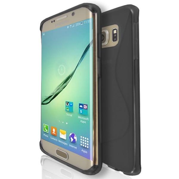 Samsung Galaxy S6 (G920F) - Black Wave S Line Case Cover