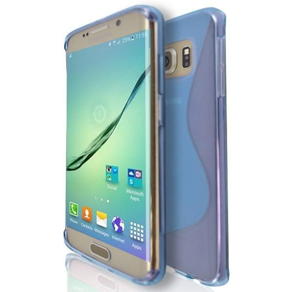 Samsung Galaxy S6 Edge (G925F) - Blue S Line Case Cover