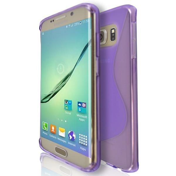 Samsung Galaxy S6 (G920F) - Purple Wave S Line Case Cover