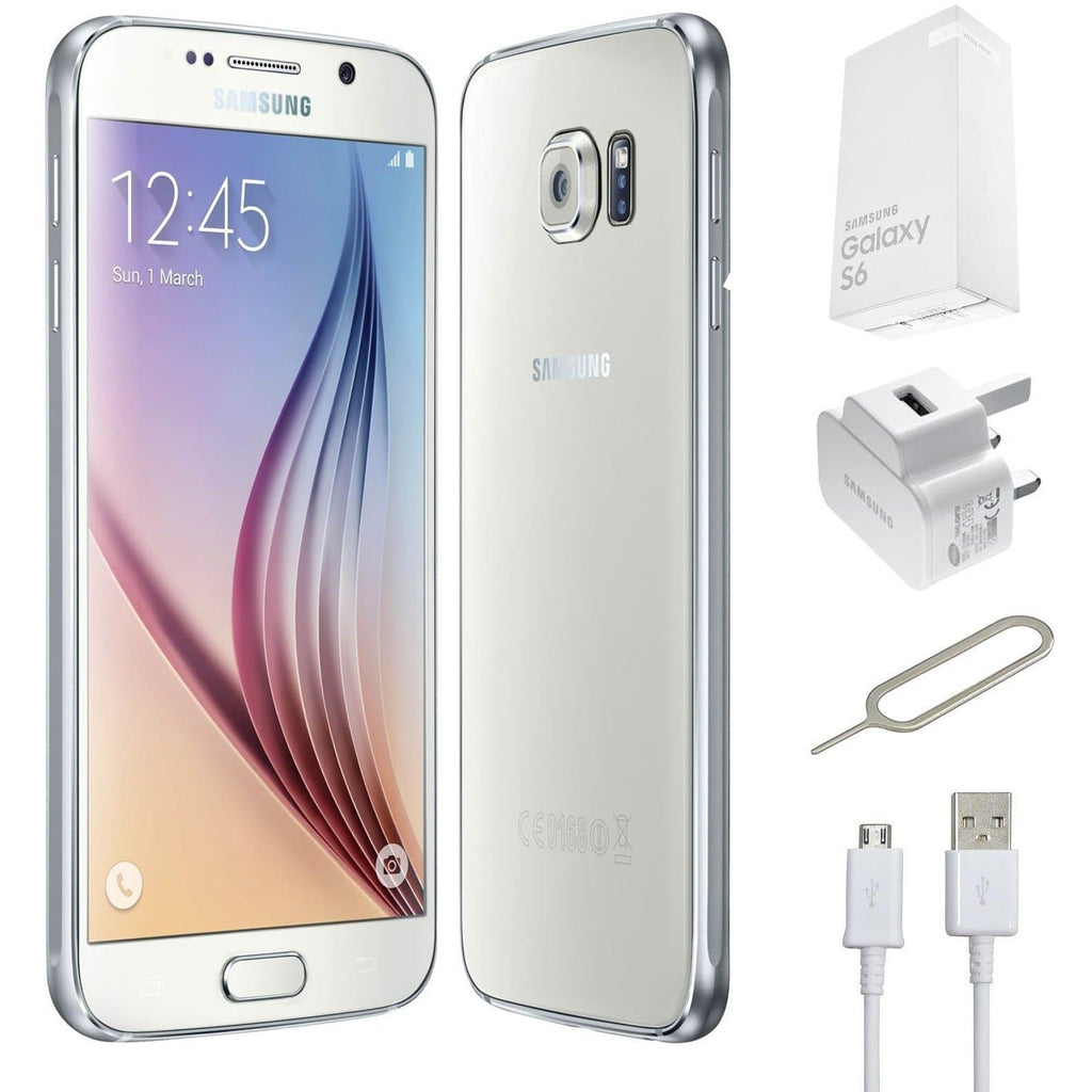 Samsung Galaxy S6 White Pearl - (32GB) - Unlocked - Genuine Grade A Bundle