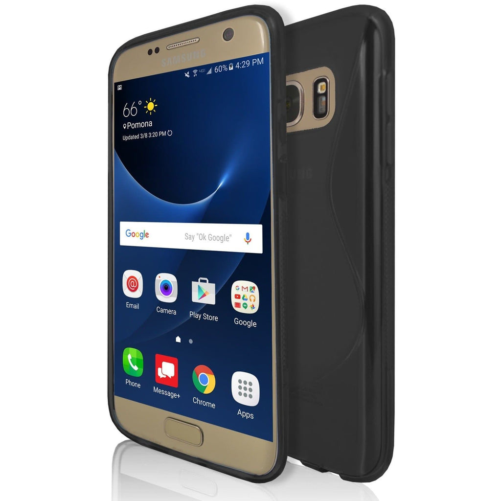 Samsung Galaxy S7 - Black S Line Case Cover