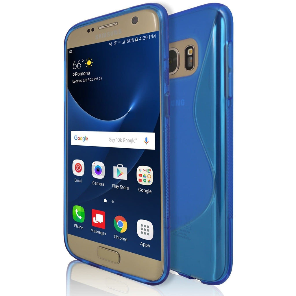 Samsung Galaxy S7 - Blue S Line Case Cover