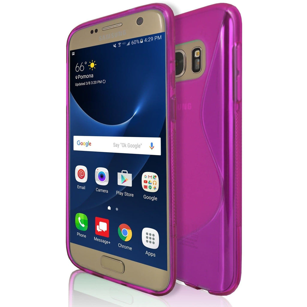 Samsung Galaxy S7 - Pink S Line Case Cover