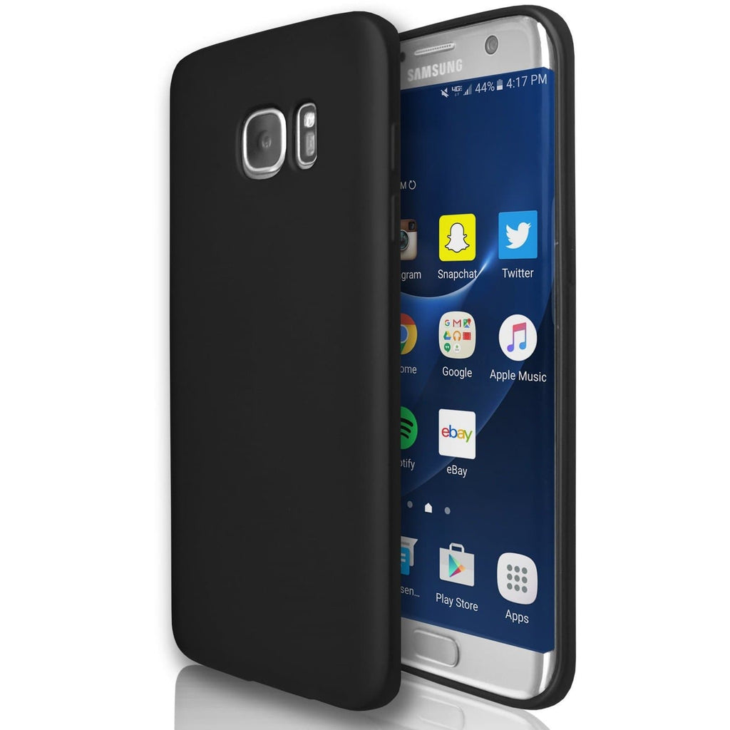 Samsung Galaxy S6 Edge  - Gel Soft Silicone Protective Case - Black