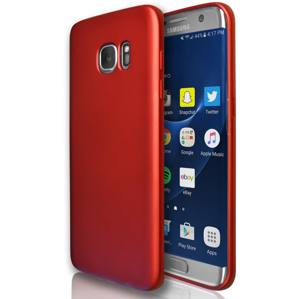Samsung Galaxy S7  - Gel Soft Silicone Protective Case - Red
