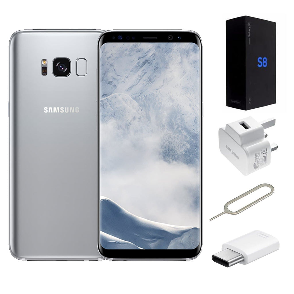 1182addac532 Refurbished Samsung Galaxy S8 Arctic Silver Unlocked - Grade A Excellent  condition