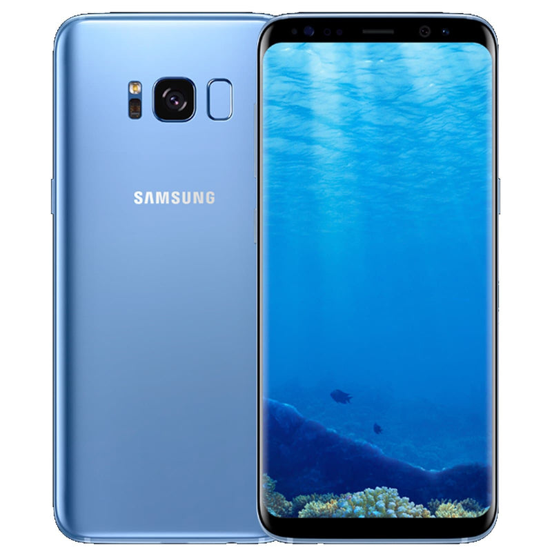 Samsung Galaxy S8 - Coral Blue - (64GB) - Unlocked - Good Condition