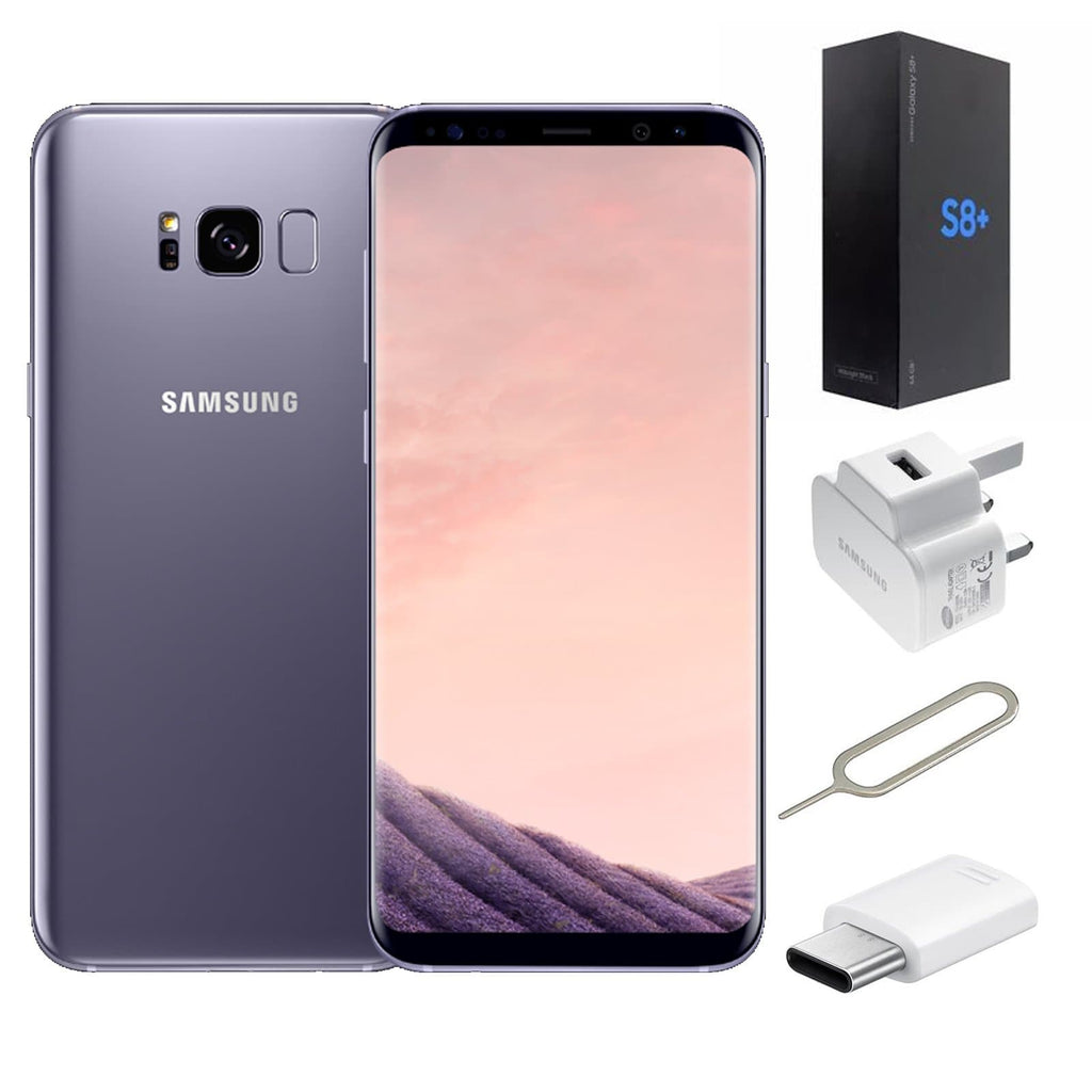 refurbished samsung galaxy s8 plus 64gb orchid grey. Black Bedroom Furniture Sets. Home Design Ideas