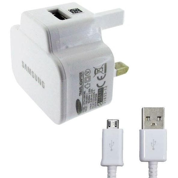 Samsung Cables - Genuine Samsung Travel Charger For Samsung Galaxy S3, Galaxy S4, Galaxy Note 3 & Galaxy Mini