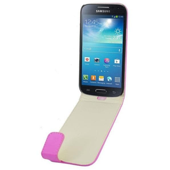 Baby Pink Mini PU Leather Flip Case For Samsung Galaxy S4