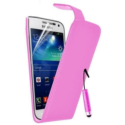 Baby Pink Pu Flip Leather Case For Samsung Galaxy S4 Mini (I9190)