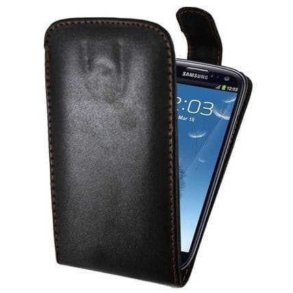 Black Flip Leather Case Cover Pouch For Samsung Galaxy S3 (I9300)