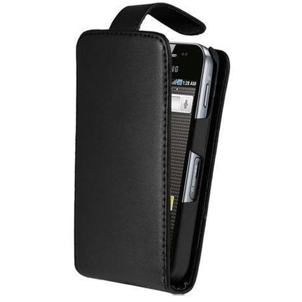Samsung Cases - Black Flip Leather Case For Samsung Galaxy Ace S5830