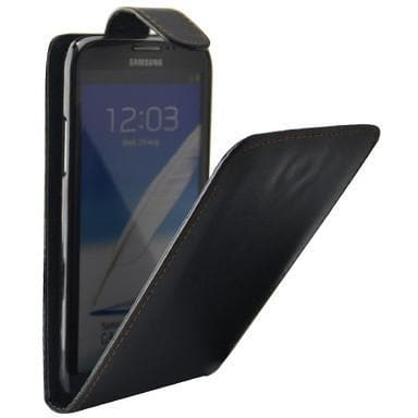 Samsung Cases - Black Flip Pu Leather Case For Samsung Galaxy Note 2 N7100