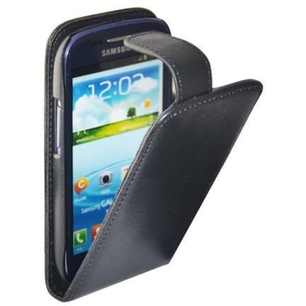 Black Flip Pu Leather Case Cover For Samsung Galaxy S3 Mini ( I8190)