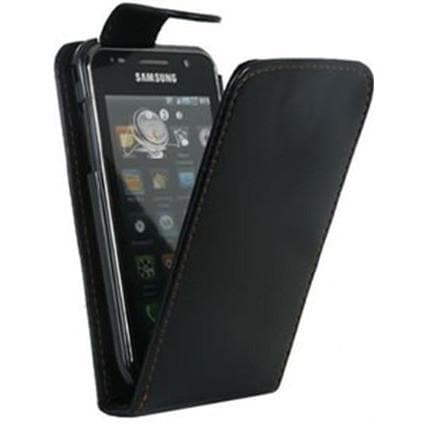 Black Flip Pu Leather Case For Samsung I9000 Galaxy S
