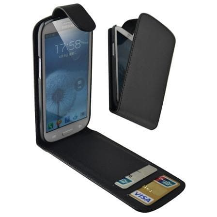 Black Flip Wallet Pu Leather Case Cover Pouch For Samsung Galaxy S3 (I9300)