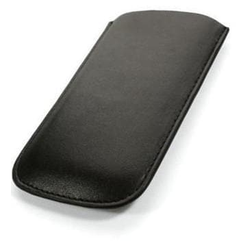 Black Leather Case Pouch For Samsung Galaxy Ace S5830