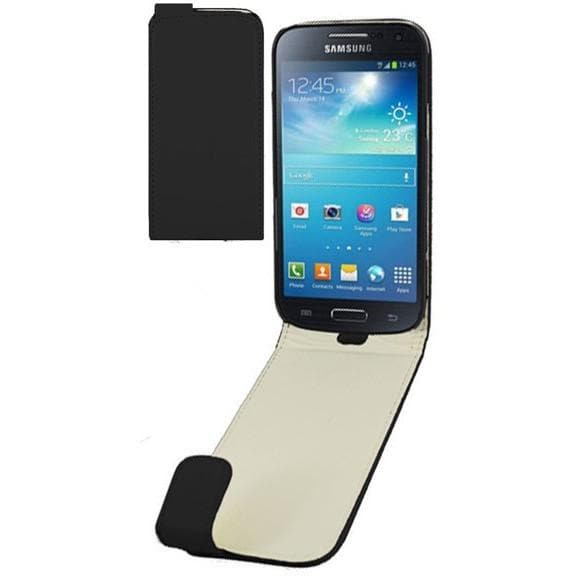 Black PU Leather Flip Cover Case For Samsung Galaxy S4 Mini