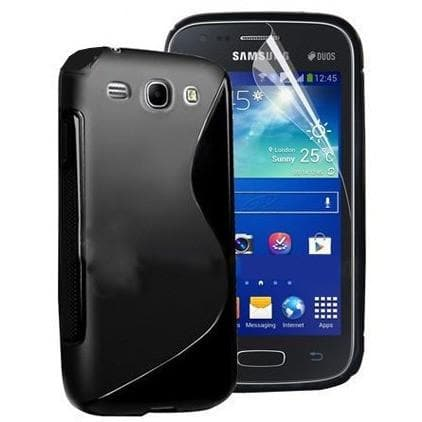 Black S Line Gel Silicone Rubber Case Cover Samsung Galaxy Express I8730