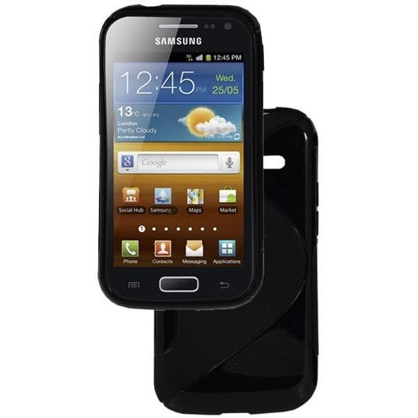 Black S Line Silicone Case For Samsung Galaxy Ace 2