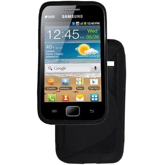 Black S Line Silicone Case For Samsung Galaxy Ace Plus S7500