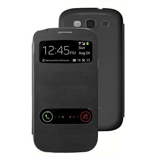 Samsung Cases - Black S View Case For Samsung Galaxy S3 (I9300)