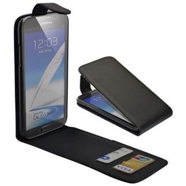 Black Samsung Galaxy Note 2 N7100 Flip PU Leather Case