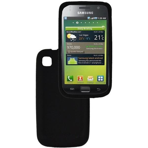 Samsung Cases - Black Samsung Galaxy S (i9000) Silicone Case