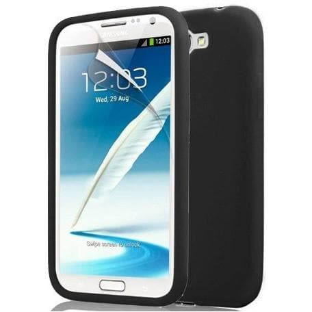 Samsung Cases - Black Silicone Case Cover For Samsung Galaxy Note 2 N7100