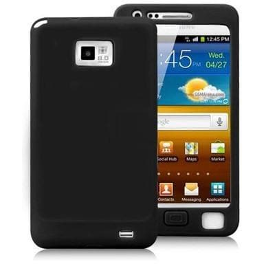 Black Silicone Case Cover For Samsung Galaxy S 2 I9100