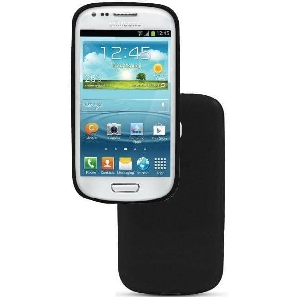 Samsung Cases - Black Silicone Case Cover For Samsung Galaxy S3 Mini I8190