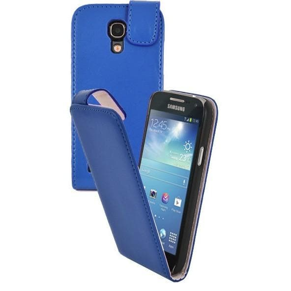 Blue Pu Flip Leather Cover Case For Samsung Galaxy S4 Mini (I9190)