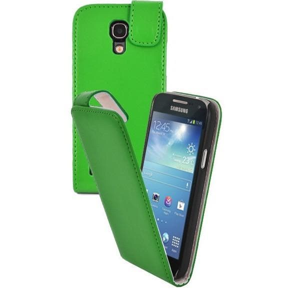 Green Pu Flip Leather Case For Samsung Galaxy S4 Mini (I9190)
