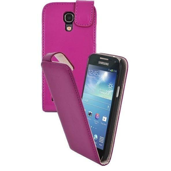 Hot Pink Pu Flip Leather Case For Samsung Galaxy S4 Mini (I9190)