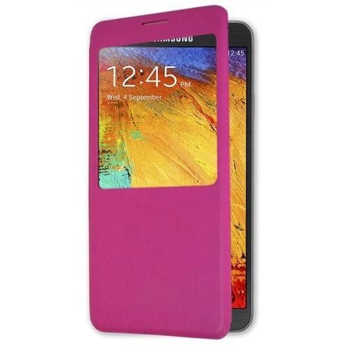 Pink Flip S View Pu Leather Case Cover For Samsung Galaxy Note 3 N9000