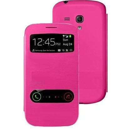 Pink Flip S View Pu Leather Case Cover For Samsung Galaxy S3 (I9300)