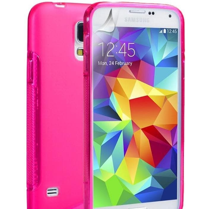 Pink S Line Case Cover Fits Samsung Galaxy S5 (I9600)