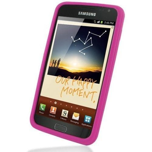 Samsung Cases - Pink Silicone Case Cover For Samsung Galaxy Note I9220