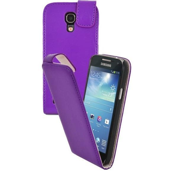 Purple Pu Flip Leather Case For Samsung Galaxy S4 Mini I9190