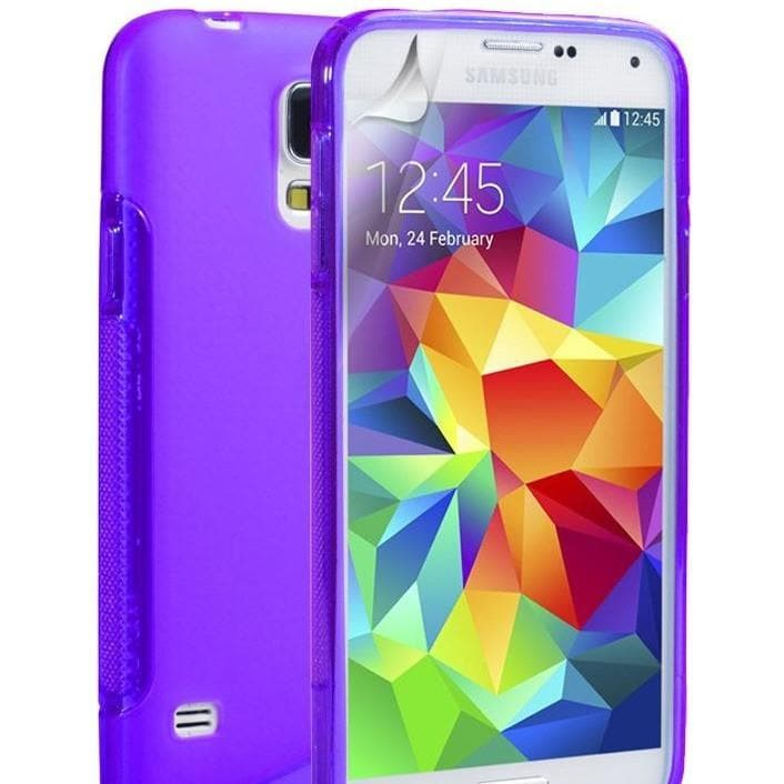 Purple S Line Case Cover Fits Samsung Galaxy S5 (I9600)