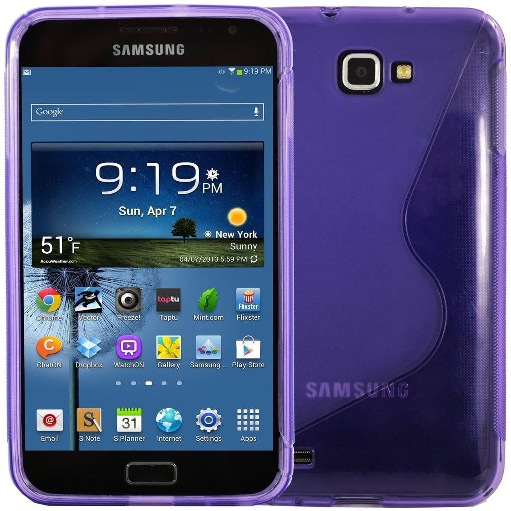 Purple Samsung Galaxy Note N7000 S Line Silicone Case